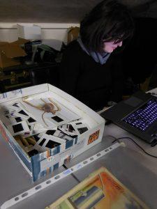 ARCH team 02: Eleni Papalexiou at the archive of Socìetas Raffaello Sanzio.