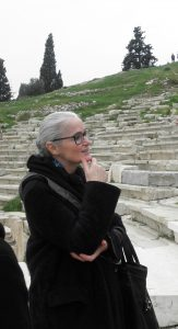 The Artists 01: Claudia Castellucci at the Ancient Theatre of Dionysus. Photo by Avra Xepapadakou, Athens 2014.