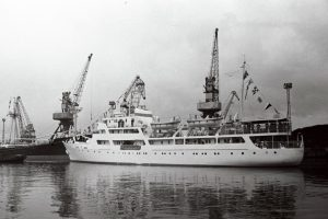 Motor ship Vanemuine after its maiden voyage in the harbour of Tallinn. EFA.204.0-89740